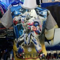 Kaos/Tshirt/Baju Anak Fullprint Optimis Prime Film Transformers II
