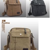 tas selempang kanvas pria /sling bag / tas slempang cowok / travel bag