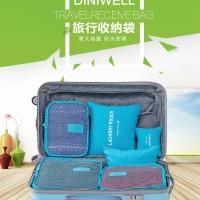 Tas Travel 6 in 1 storage bag in bag organizer / Tas Travel 6in1 set