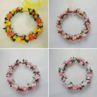 Jual Flower crown /Mahkota bunga ;Full mix 4 Murah
