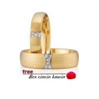 cincin kawin couple emas kuning s2088
