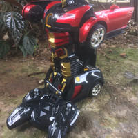 remote control mobil transformer car 2,4GHz Drift Fighter Murah...