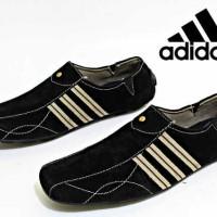 Jual sepatu casual slip on slop blues adidas kulit suede Murah