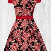 Dress Baju Imlek Wanita - CNY Batik Flower