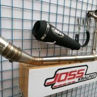 Knalpot M4 Black Doff Full Set For CBR 250 New 2016,CBR 250RR, CBR 250
