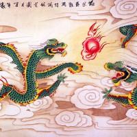 harga Repro Gambar Lukisan Dragon Phoenix Fu Hoki Naga Burung Feng Shui Uang Tokopedia.com