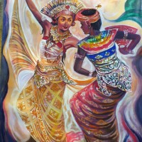 harga Repro Gambar Lukisan Penari Bali Dancer Pretty Painting Beautiful Tokopedia.com