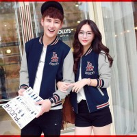 [Cp Jkt LA CL] jaket couple babyterry navy misty
