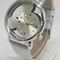 JAM TANGAN MICKEY MOUSE HOLLOW DIAMONDS LEATHER HQ