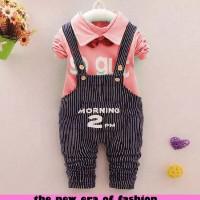 Jual Setelan Baju Anak Perempuan Umur 3 Tahun Murah [d939 st 2pm pink DR] Murah