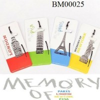Pembatas buku/Bookmark Memory (London;Paris;Pisa;Newyork)