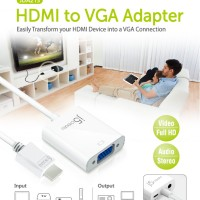 HDMI to VGA Adapter - J5Create JDA213 with Power In / Audio Output