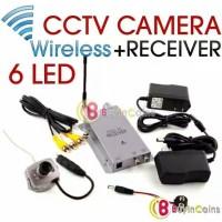 CCTV Mini Wireless Camera Kit Radio AV Receiver TV Full Kit Security