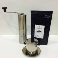 harga Paket Coffee Grinder Stainless, Vietnam Drip & Kopi Lintong ori 100gr. Tokopedia.com