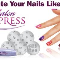 Jual Salon Express ~ Nail Art Stamping Kit ~Decorate Your Nails Like A Pro Murah