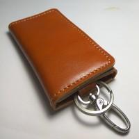 Jual dompet stnk kulit lipat tiga warna tan | gantungan kunci mobil motor Murah