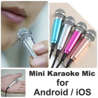 Mini Sing KARAOKE Mic for Android iOS PC Wired Microphone SMULE NYANYI