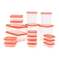 Jual Kotak Plastik Makanan IKEA Pruta Oren isi 17 Wadah Tempat Penyimpanan Murah