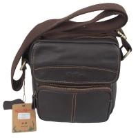 Tas Kickers Sling Original Leather 100% Dark Brown (KBA6027)