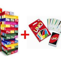 Jual Kartu UNO + Stacko | Paket UNO | Paket UNO Stacko | Permainan Keluarga Murah