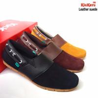 kickers slip on slop bloes casual santai warna hitam coklat toko gudan