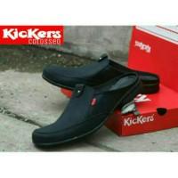 sepatu sandal kickers pria slop bustong casual slip on cowok