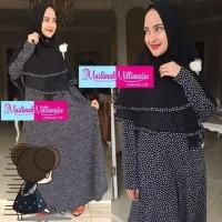 Paket Baju/Gamis Muslim dan Jilbab Syari Original Branded,Nadhira Dres