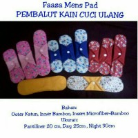 mens pad faaza night / menspad faaza night/ pembalut kain cuci ulang