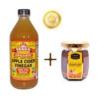 harga BRAGG Apple Cider Vinegar 473 Ml + Natural Madu Arab Al Shifa Original Tokopedia.com