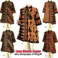 LONG BLOUSE SOGAN BATIK ETHNIC CLASSIC EXCLUSIVE ELEGANT SERAGAM TUNIC