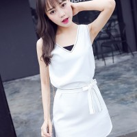 White Cotton Dress - 30221