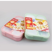 Kotak Makan Lunch Box Yooyee 4 Sekat Grid Leak Proof Anti Bocor Bento