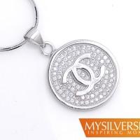 harga Liontin Chanel Vrandda Silver 925 - Berlapis Emas Putih Tokopedia.com