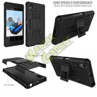 Jual Stand Case Heavy Duty Rugged Armor Sony Xperia X Performance Mura