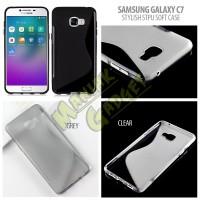 Jual Soft Case S-line Wave TPU Samsung Galaxy C7 Stylish Murah