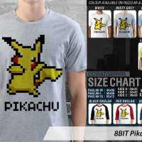 8BIT Pikachu 1 - KAOS DISTRO PRIA WANITA OCEANSEVEN