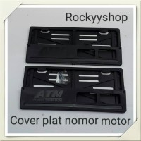 cover plat nomor motor rata
