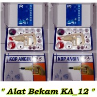 Alat Bekam Kop Angin Ka Cupping Kit - Isi 12 New Ka Original
