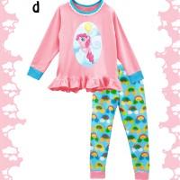 Jual baju tidur anak perempuan little pony pink size 6-10 Tahun Murah