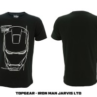 Jual Tshirt / Baju / Kaos Superhero Topgear Iron Man Jarvis LTD Murah