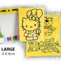 Jual Mainan Edukasi Anak Mewarnai Pasir Warna Size JUMBO Murah