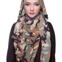 Pashmina / jilbab / hijab / kerudung / pashmina motif Army