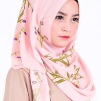 Pashmina Instan / Jilbab Instan / Hijab Instan Milla Motif Pink