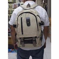 NEW Hermantech Tas Ransel Kanvas / Backpack Kanvas - Brown LZD