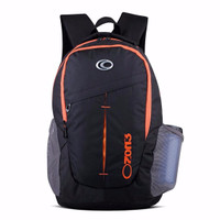 NEW School Backpack OZONE 153 + Raincover - Hitam LZD
