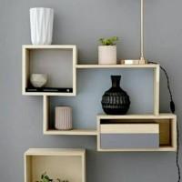 Rak dinding minimalis 1set / floating shelf, Ambalan