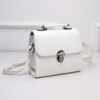 tas wanita import selempang warna putih murah formal size medium polos