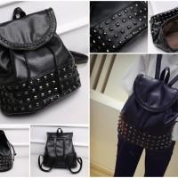tas wanita import ransel pelajar fashion bangkok stud kualitas premium