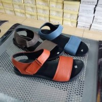 sandal sendal wanita flat teplek tali kulit sapi asli
