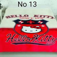 Selimut Import Murah Lembut HELLO KITTY LEOPARD Semi Premium Terlaris